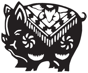 Свинья - символ 1743 года по восточному календарю