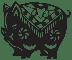 Свинья - символ 1875 года по восточному календарю